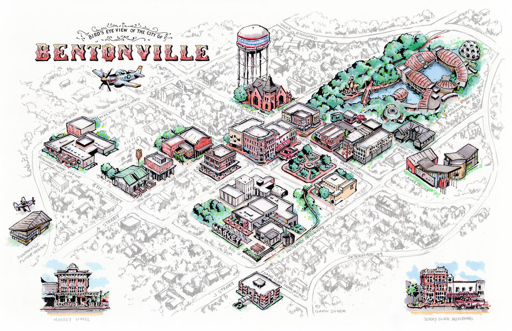 Illustrated Guide to the City of Bentonville