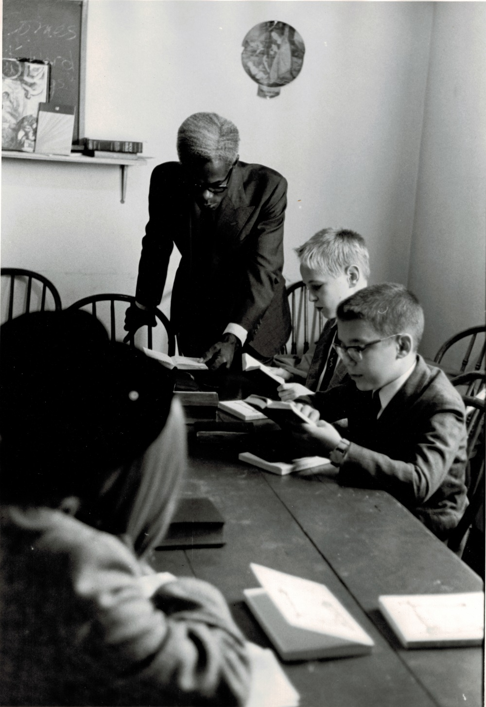 Albert Powell teaching Sunday School, 1962.