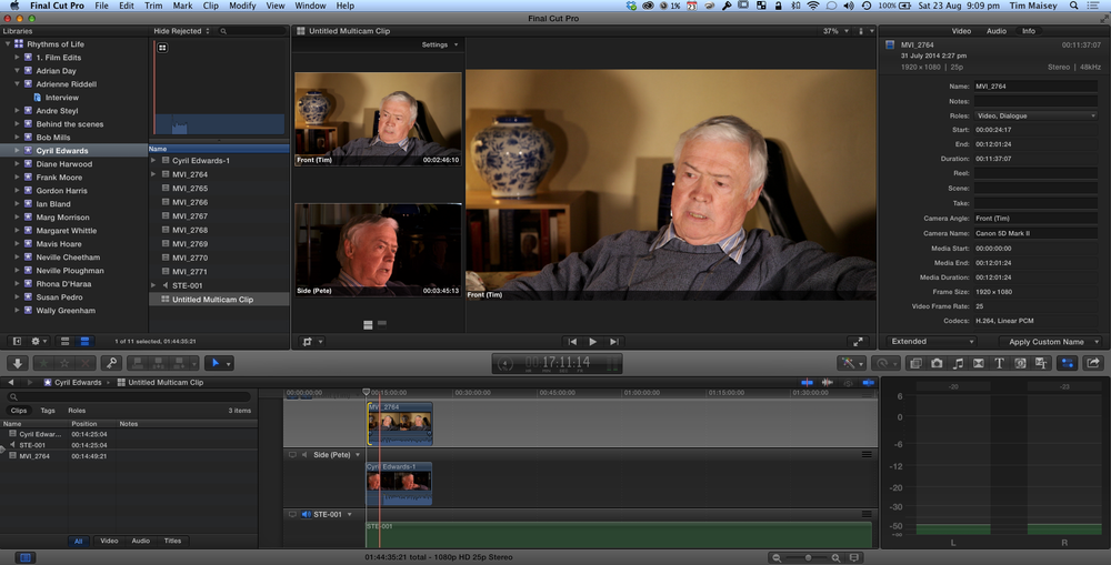 Multicam in Final Cut Pro X