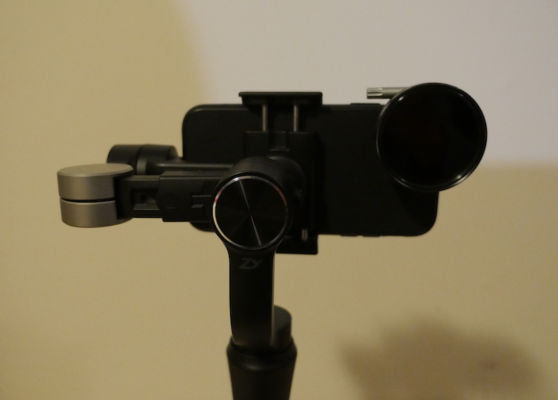 Counterweights on the SmoothQ gimbal