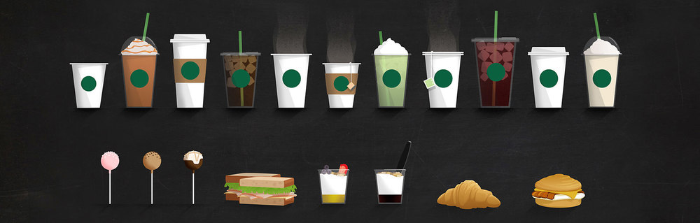 Designed all these foods and drinks and sadly only used about 4 of 'em.