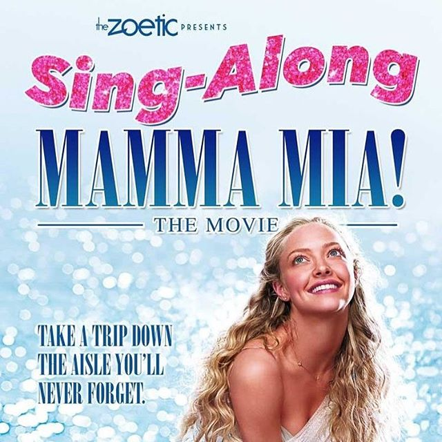 Our Mamma Mia Sing-Along is almost SOLD OUT! There are only 2 tickets available still! Hurry, get your tickets at www.thezoetic.ca/events