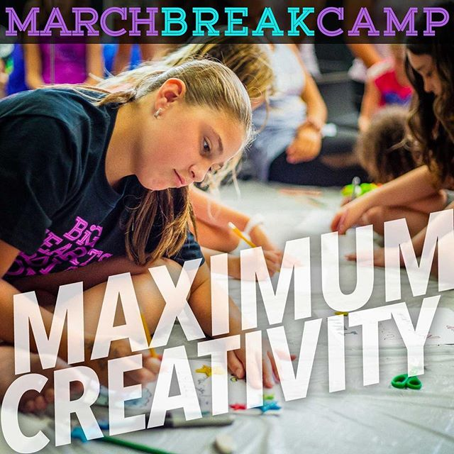 How about something fun and creative for the kids this March Break? We've got a one-day intensive Creative Day Camp (Wednesday, March 13th) for 6-13 year olds. In partnership with Freedom Studios.