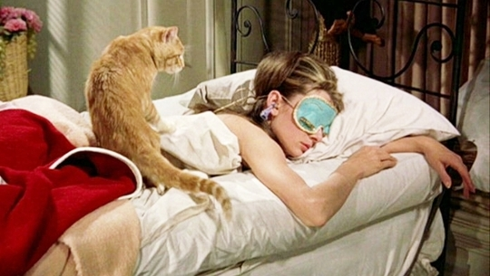 Breakfast at Tiffany's (don't you love the eye mask?)