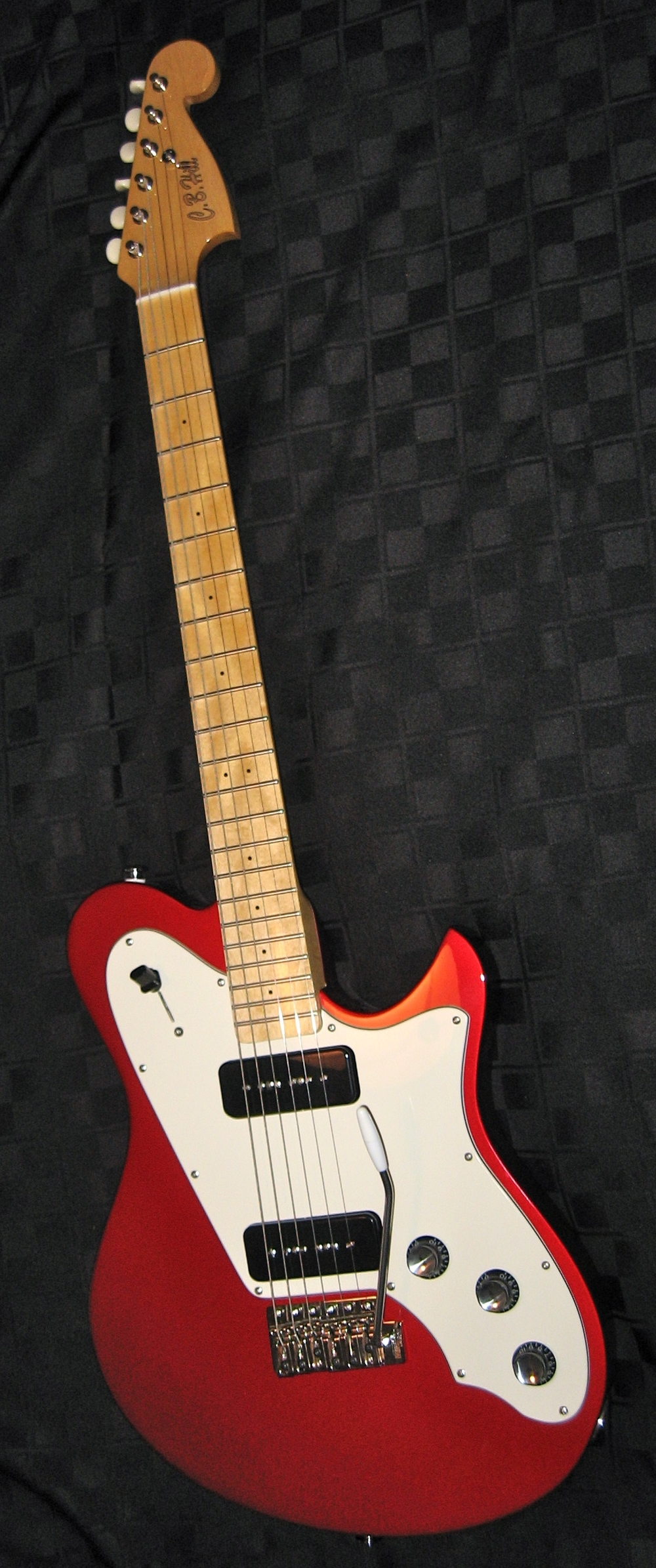 A new red Surfmaster that went to Wildriff Guitars in Canada