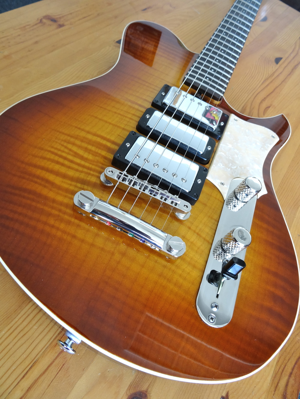 This guitar was commissioned by Wildriff Guitars