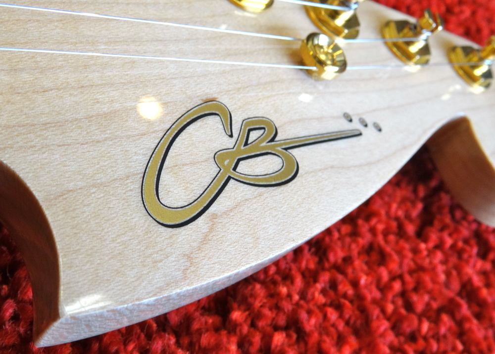 Our new logo looks great on this headstock!