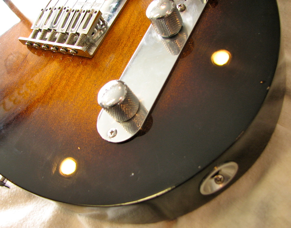 It's CB's first foray into a relic finish on one of his own guitars