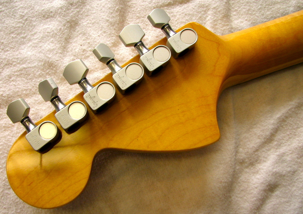 The Sperzel tuners are modern classics