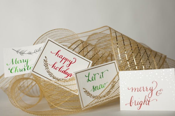 Smock gift tags with calligraphy by bedsidesign  Photo Credit: Amelia Beamish for Smock