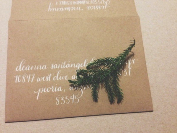 "Holiday Calligraphy Addressing by bedsidesign.  Using the ""marie"" style."