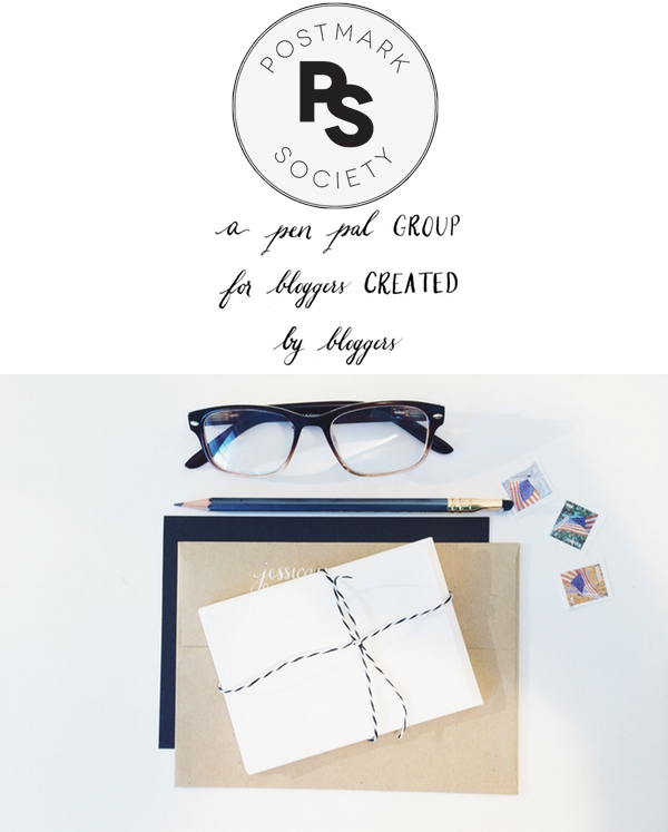 postmark society - a pen pal group for bloggers created by bloggers
