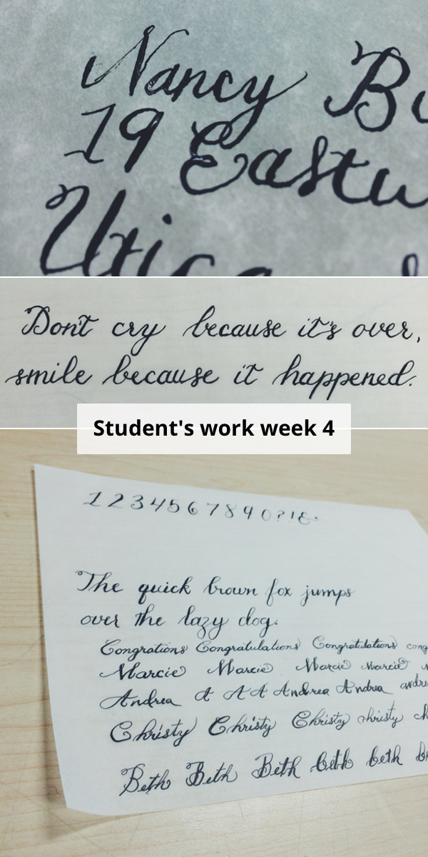 student's calligraphy work