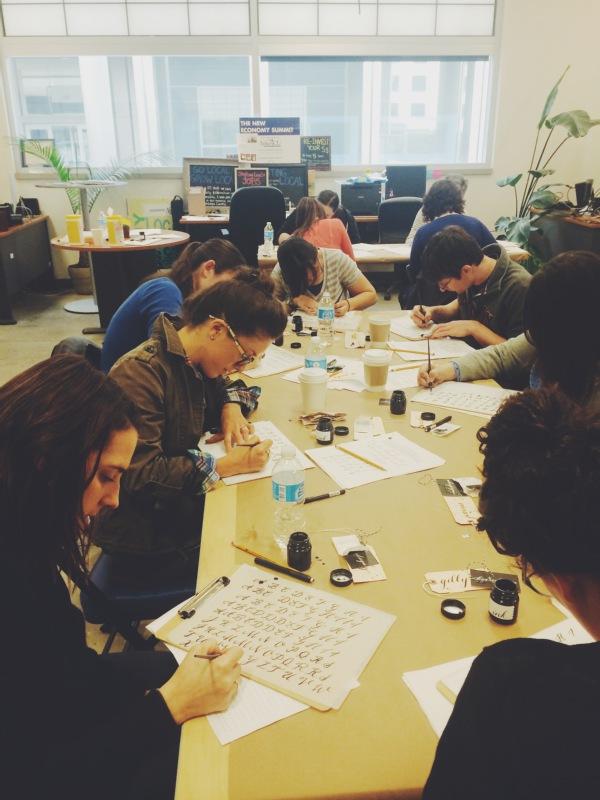 syracuse calligraphy workshop - bedsidesign