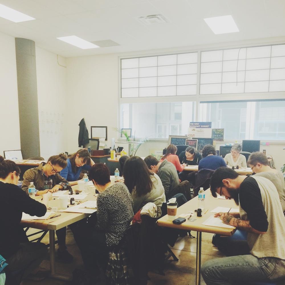 bedsidesign calligraphy workshop