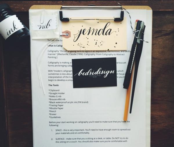 calligraphy starter kit - bedsidesign
