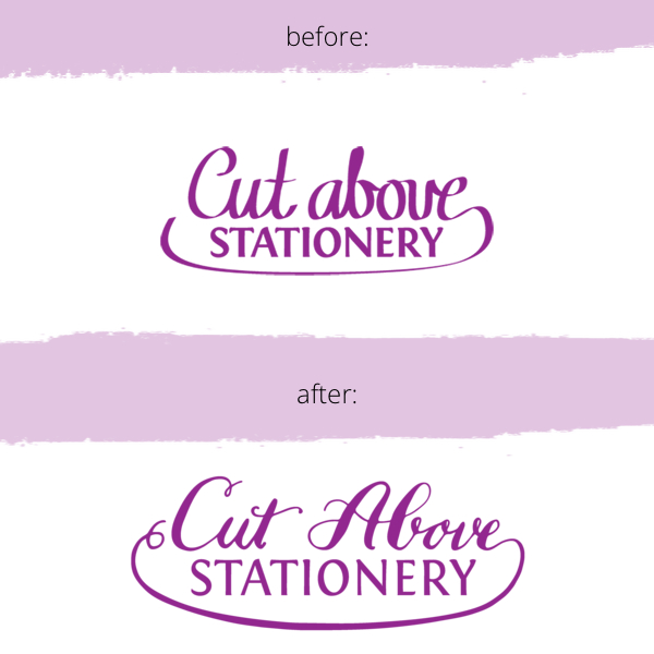 cut above stationery logo by bedsidesign