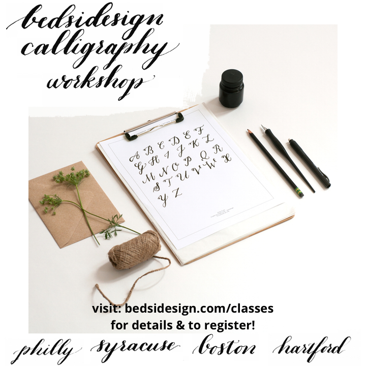 bedsidesign calligraphy workshop tour
