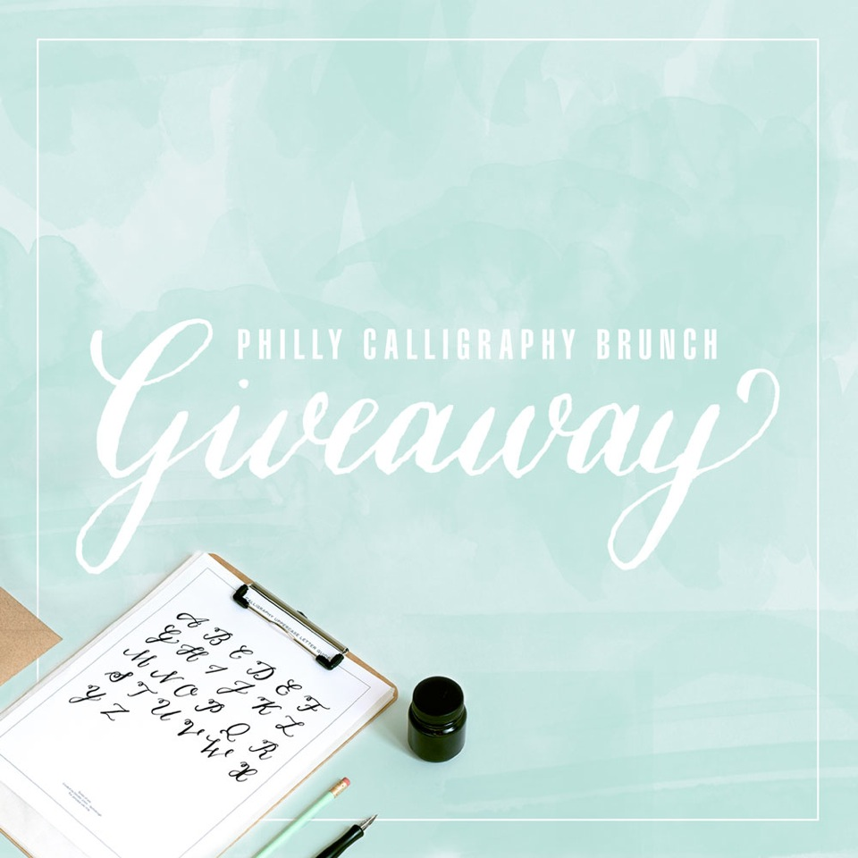 philly calligraphy brunch giveaway