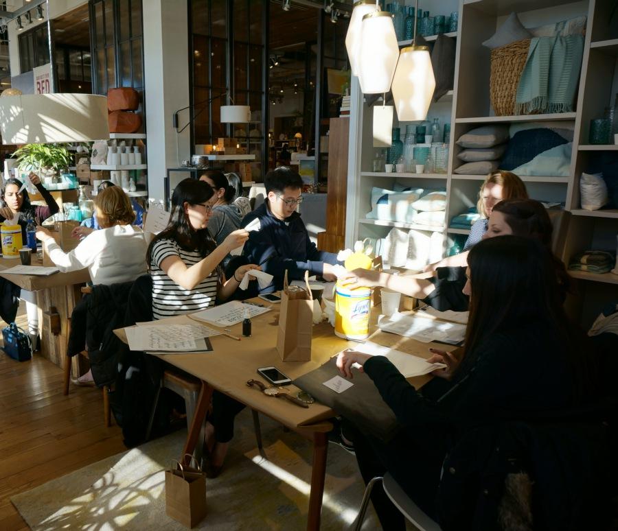 bedsidesign modern calligraphy workshop
