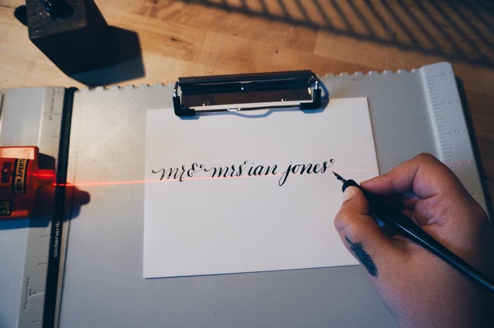 bedsidesign calligraphy addressing tips