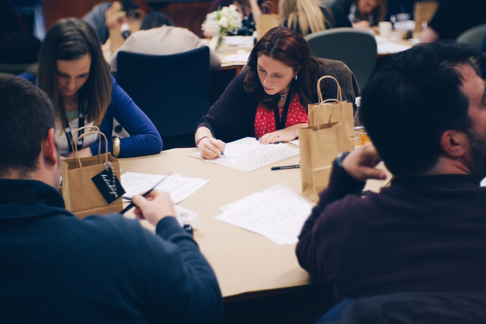bedsidesign modern calligraphy workshop at create upstate 2015