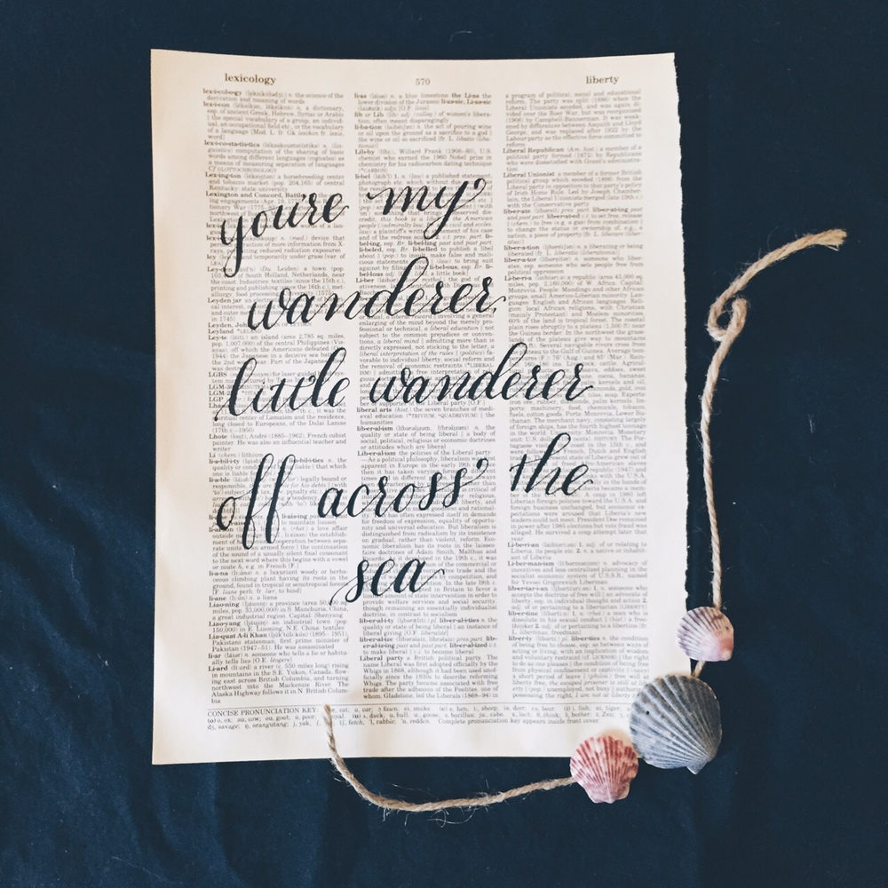 death cab for cutie lyrics in calligraphy by bedsidesign