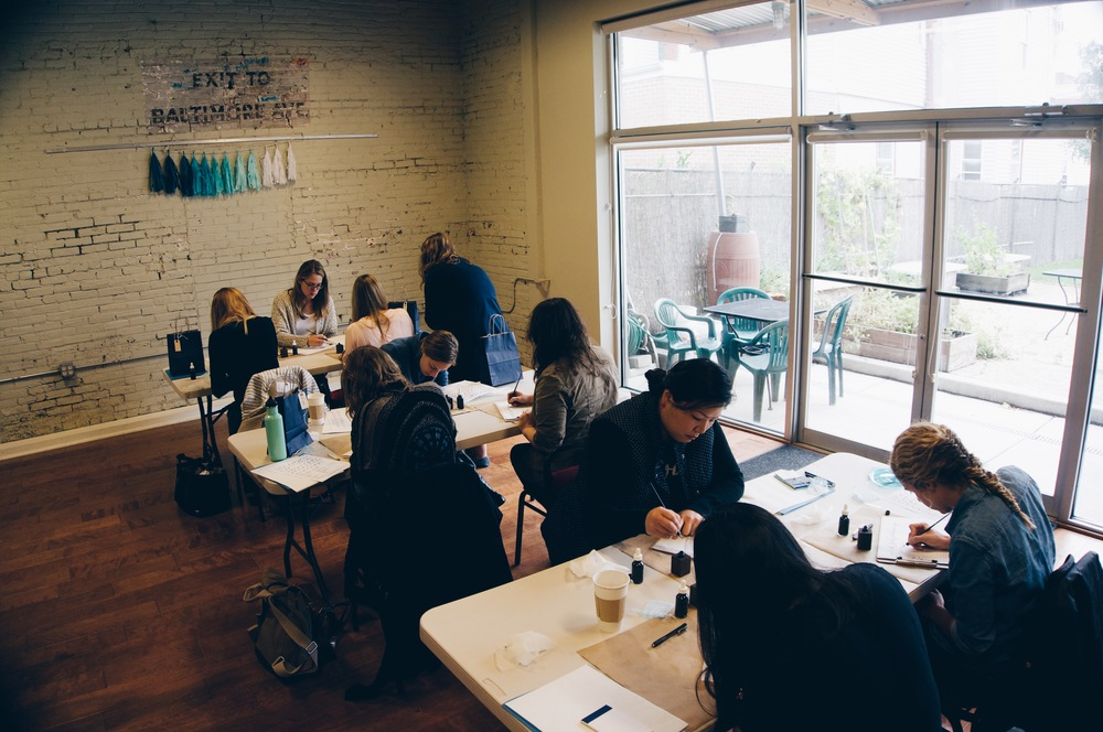 SWELL ANCHOR STUDIO MODERN CALLIGRAPHY WORKSHOP