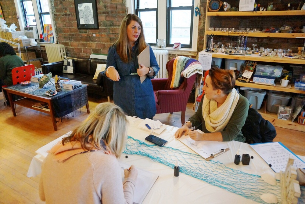 SWELL ANCHOR STUDIO MODERN CALLIGRAPHY WORKSHOP PATCHOGUE, NY