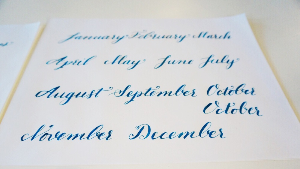 Advanced Modern Calligraphy Workshop Patchogue New York