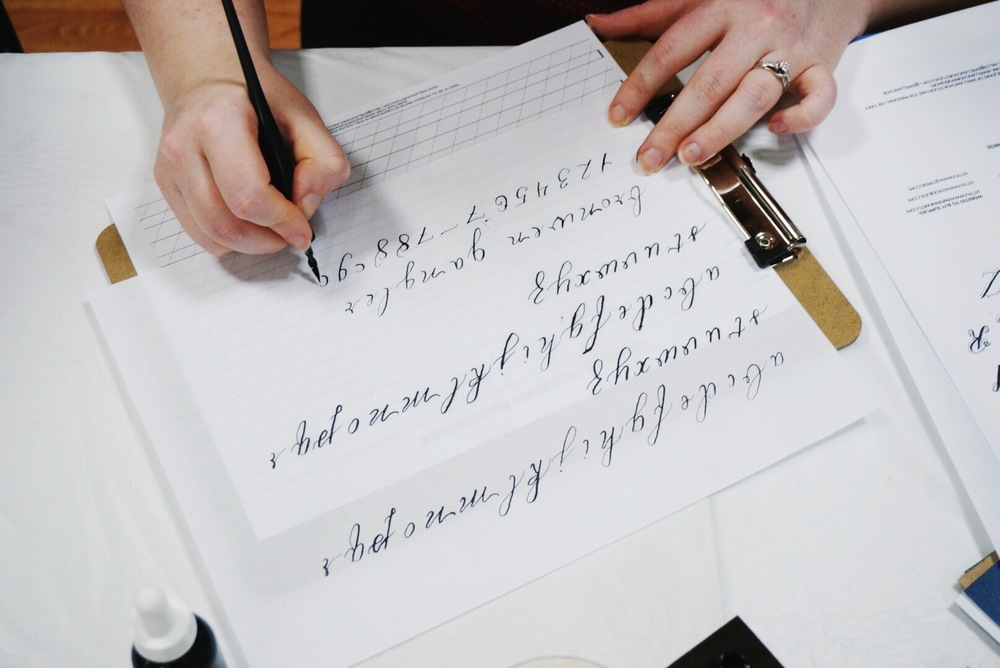 Blog swell anchor studio Calligraphy classes near me
