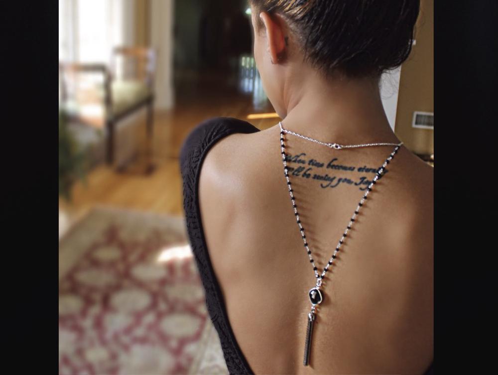 Onyx Back Necklace