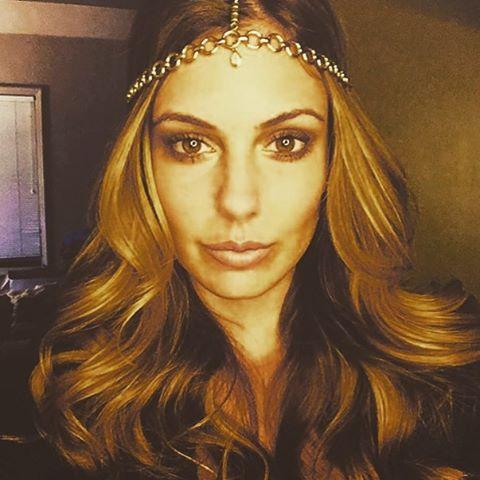 The beautiful Erin Brady Miss USA 2013 in the #eyeofja Goddess Headdress ❤️ @officialerinbrady eyeofja.com