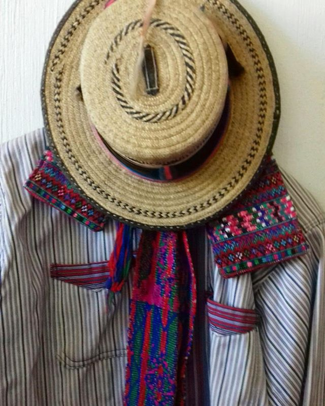 Traditional dress of the indigenous groups of Todos Santos, Totonicapan and Salcaha.