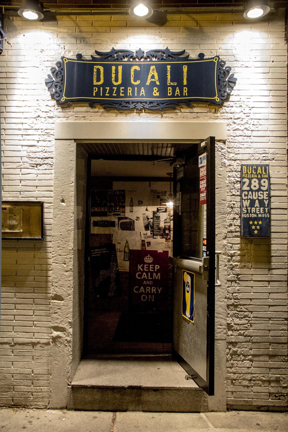Ducali Pizzeria Entrance - North End Boston