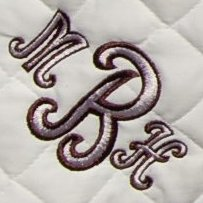 Two Color Monogram (Cursive)