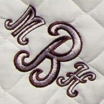 Two color monogram (cursive)