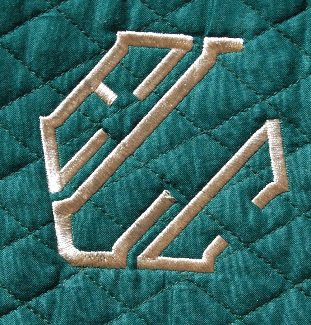 One color monogram (block)
