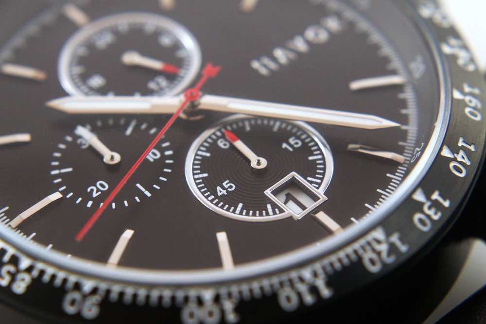 black racing chronograph