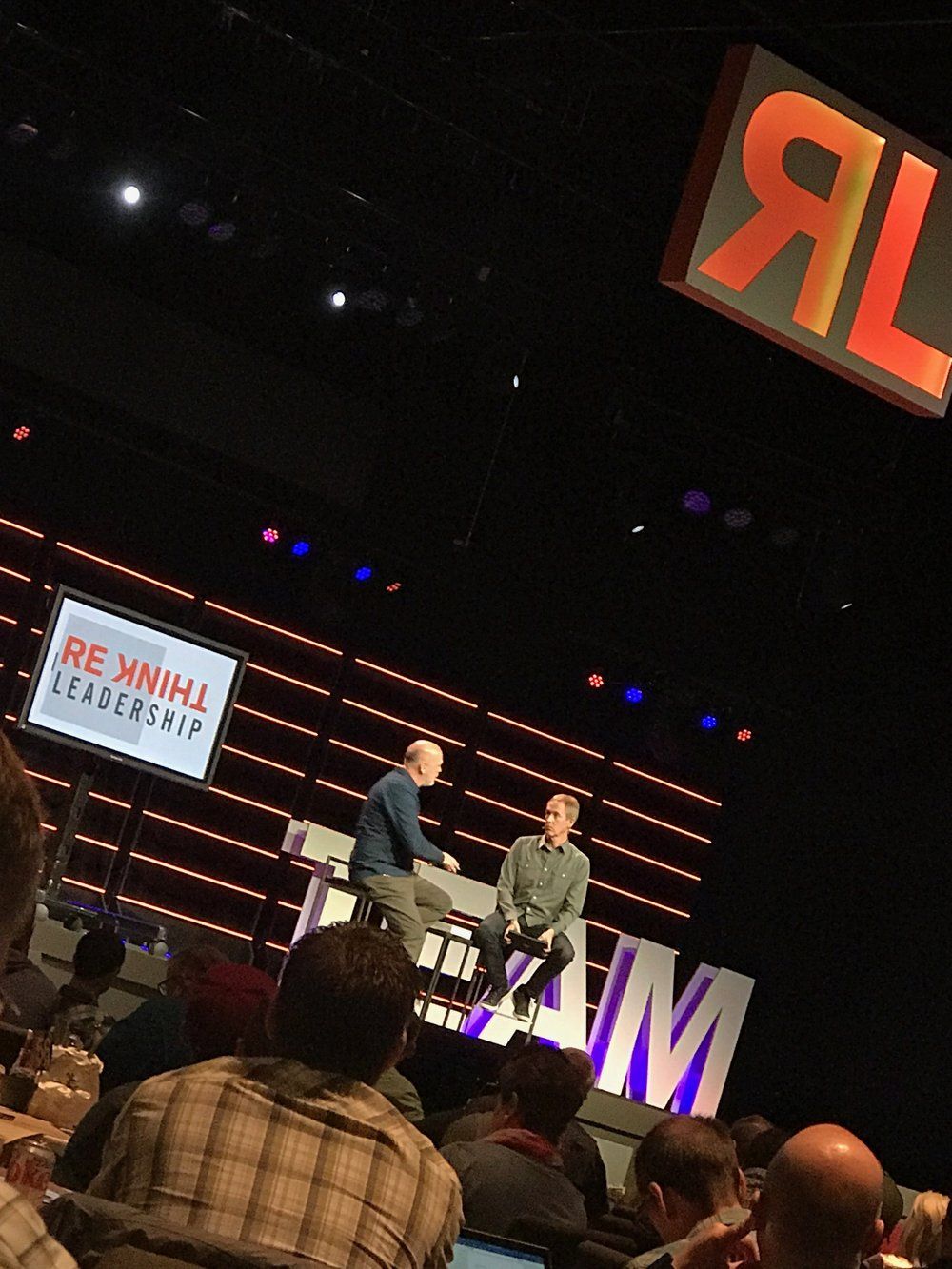 Andy Stanley and Reggie Joiner at ReThink