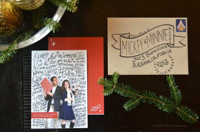 Annie & Gus Franceschi's Photo Hand-Lettered 2013 Christmas Cards - Designed by Greatest Story Creative (www.greateststorycreative.com)