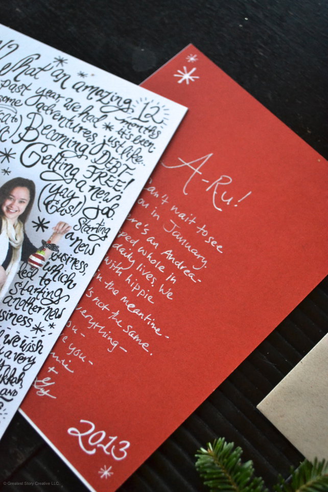 Gus & Annie Franceschi's Photo Hand-lettered Christmas Cards - Designed by Greatest Story Creative (www.greateststorycreative.com)
