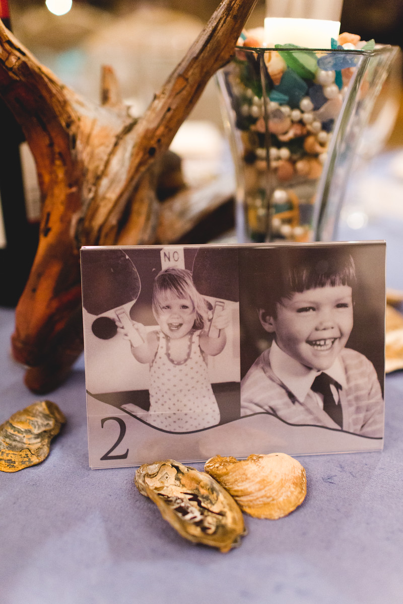 Vellum Childhood Photo Table Numbers/Centerpieces