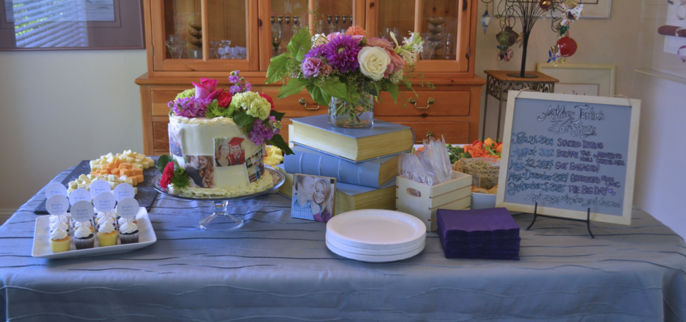 Love Story Tablescape for a Bridal Shower by Greatest Story Weddings