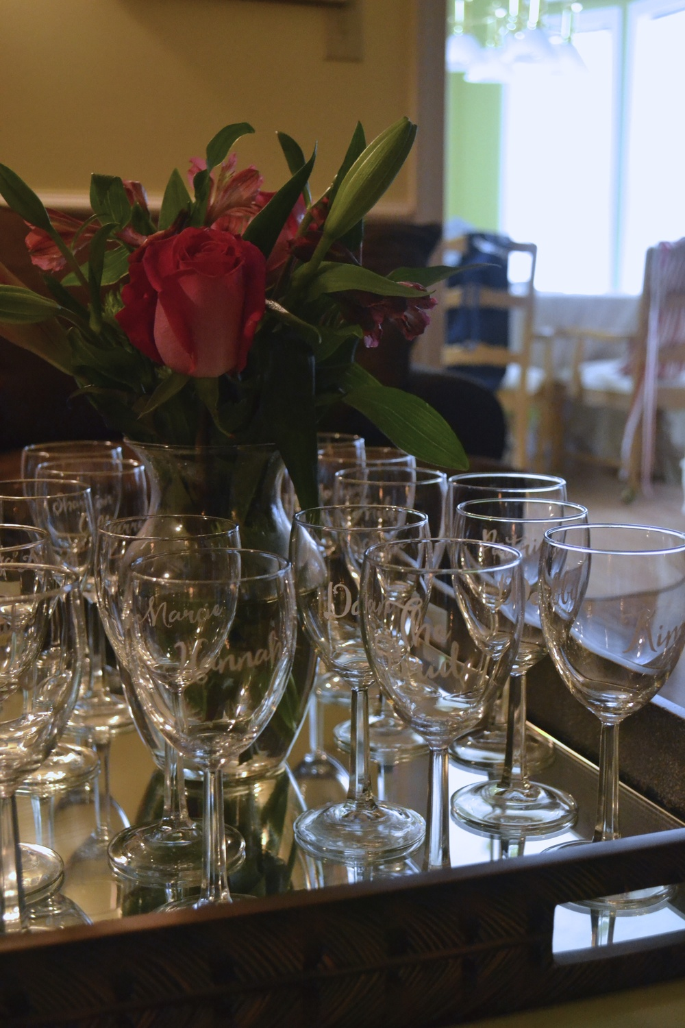 Personalized Wine Glasses for Bridal Shower Guests - Greatest Story Weddings