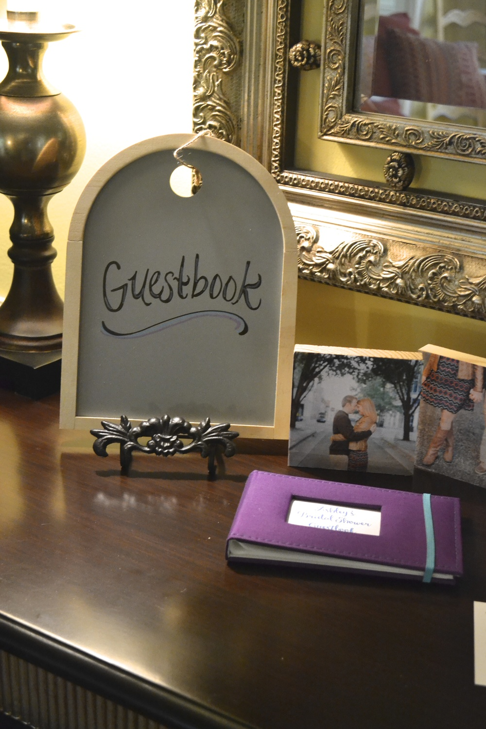 Custom Guestbook Sign and Book for Greatest Story Weddings Bridal Shower