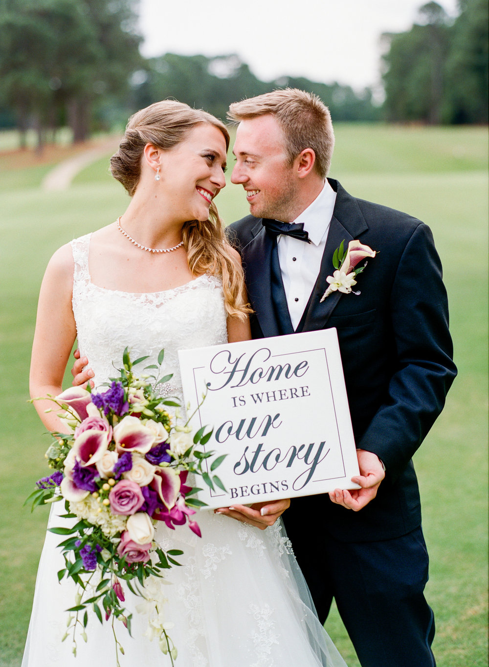 """Home is where our story begins"" Custom Wedding Art Canvas by Greatest Story Weddings 