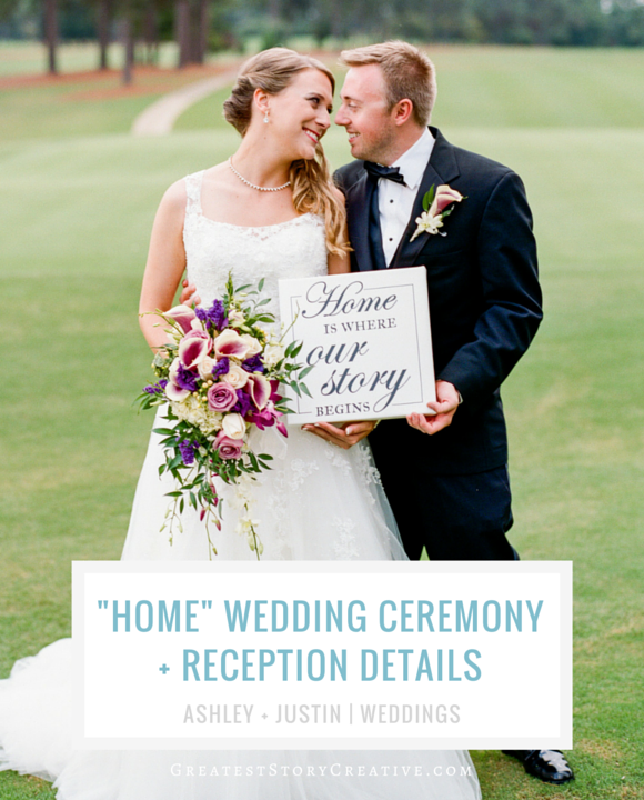 """Home is where our story begins"" Wedding and Reception Details by Greatest Story Weddings 