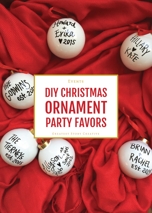 Greatest Story for Life: DIY Ornament Christmas Party Favors