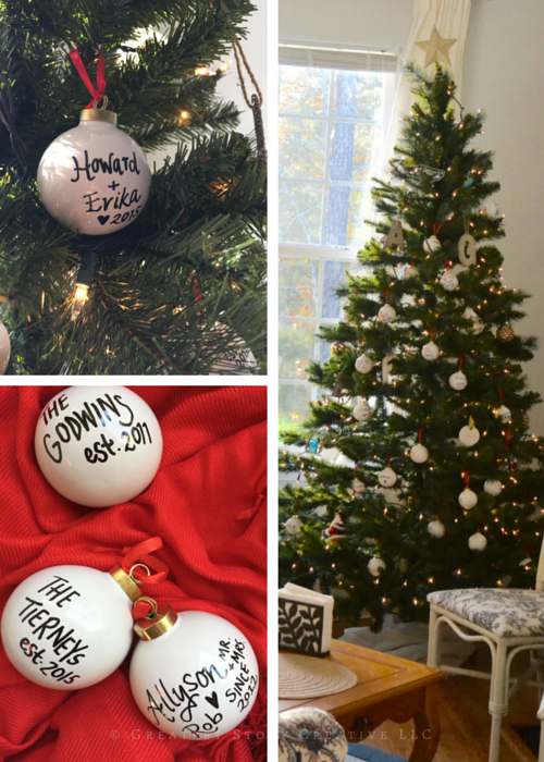 Greatest Story for Life: Display DIY Ornaments as Party Favors for your Christmas or Holiday Party